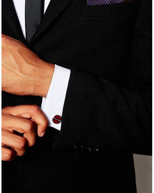 Запонки Norberto Hugo                                                                                                              красный цвет