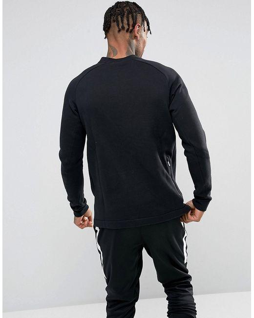 d8119c8c Мужские Чёрные Свитшот С Круглым Вырезом Modern 885970-010 Nike 5812466