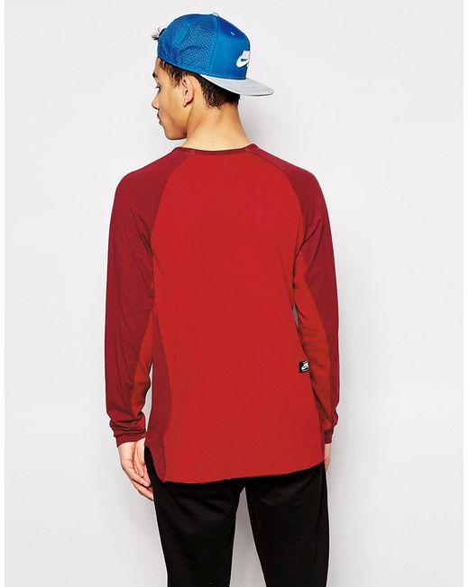 Удлиненный Лонгслив С Логотипом Сбоку Nike Sb Nike SB                                                                                                              Burgundy цвет