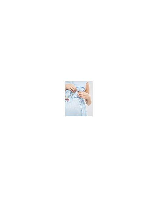 Платье Для Беременных И Кормящих Из Шамбре ASOS Maternity                                                                                                              синий цвет