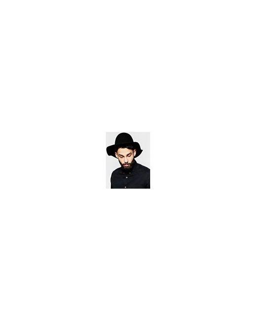 Черная Шляпа Пасечника С Мягкими Полями Черный Asos                                                                                                              чёрный цвет