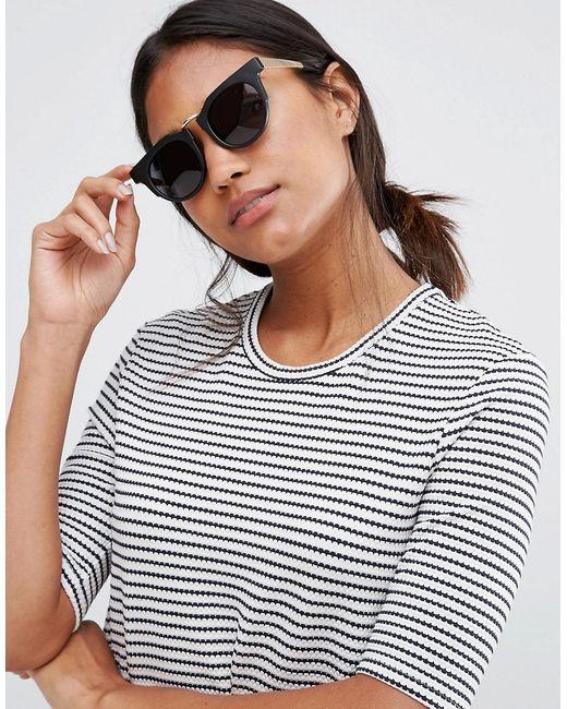 Round Sunglasses With Chunky Frame Черный AJ Morgan                                                                                                              None цвет