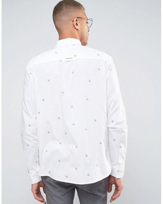 Рубашка С Черепами Arced Cheap Monday                                                                                                              белый цвет
