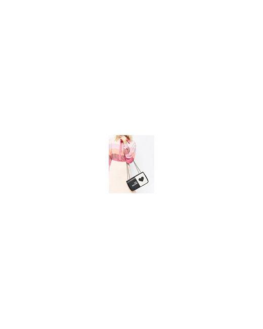 Стеганая Сумка На Плечо С Логотипом Черный Love Moschino                                                                                                              чёрный цвет