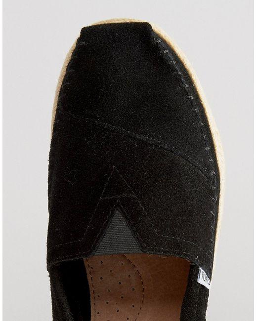 Замшевые Эспадрильи Alpargata Toms                                                                                                              чёрный цвет