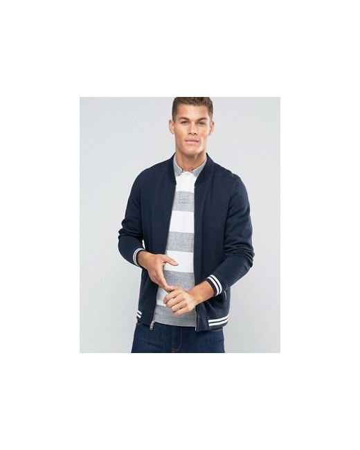Abercrombie Fitch Sweat Bomber Jacket Tipped In Abercrombie and Fitch                                                                                                              None цвет