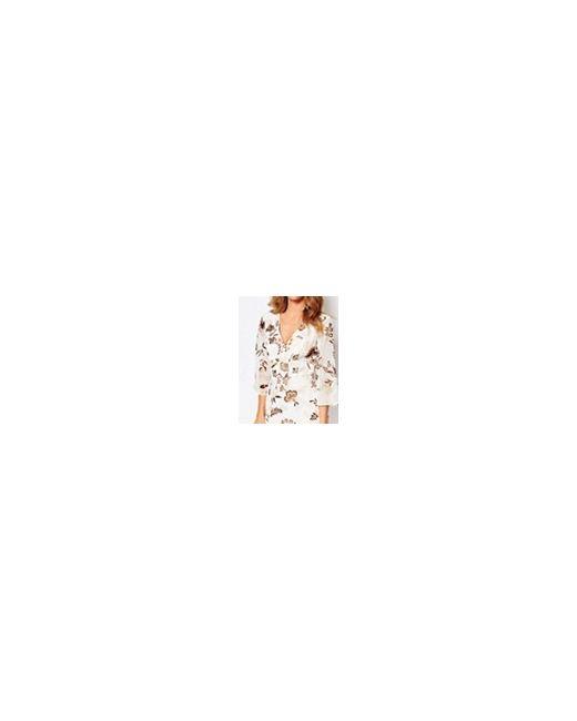 Платье Мини С Принтом Листьев Белый Принт Millie Mackintosh                                                                                                              белый цвет