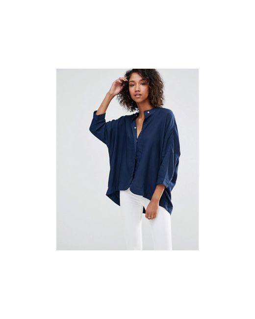Oversize-Рубашка Mia Waven                                                                                                              синий цвет