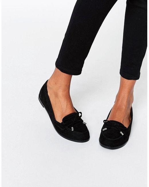Туфли На Плоской Подошве Monthly Черный Asos                                                                                                              чёрный цвет