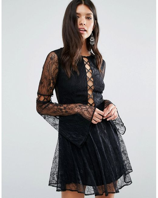 Платье Мини Majestic Черный THE JETSET DIARIES                                                                                                              None цвет
