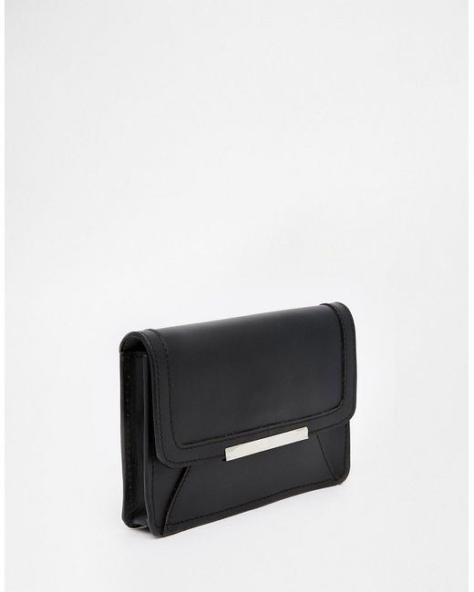 Asos Structured Leather Bum Bag With Metal ASOS Collection                                                                                                              чёрный цвет