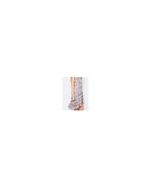 Платье Мини С Рюшами Linear Haze Мульти Stevie May                                                                                                              многоцветный цвет