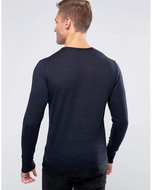 Premium Jumper In Stripe Jack & Jones                                                                                                              синий цвет