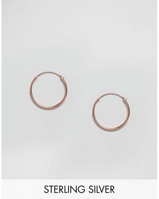 Покрытые Розовым Золотом Серьгикольца 20 Мм Розовое Kingsley Ryan                                                                                                              Розовое Золото цвет