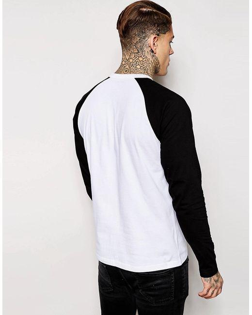 Long Sleeve Raglan League T-Shirt Carhartt                                                                                                              чёрный цвет