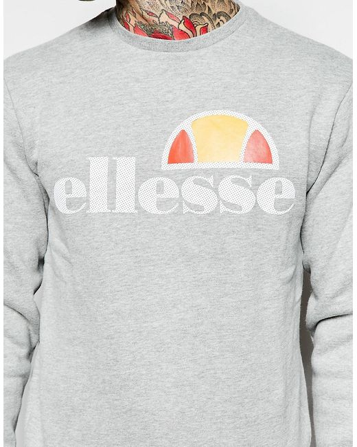 Свитшот С Перфорированным Логотипом Ellesse                                                                                                              серый цвет