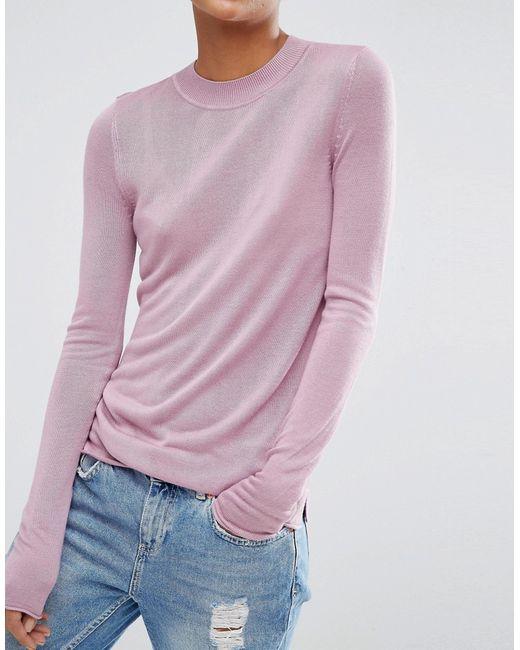 Мягкий Джемпер С Круглым Вырезом Asos                                                                                                              фиолетовый цвет