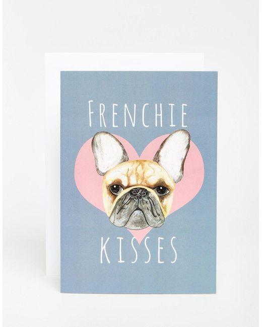 Открытка Frenchie Kisses Мульти Jolly Awesome                                                                                                              многоцветный цвет