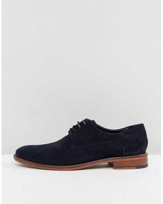 Замшевые Туфли Дерби Joehal 2 Ted Baker                                                                                                              синий цвет