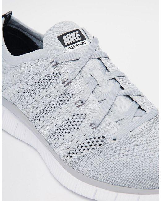 Free Flyknit Trainers 599459-002 Nike                                                                                                              серый цвет