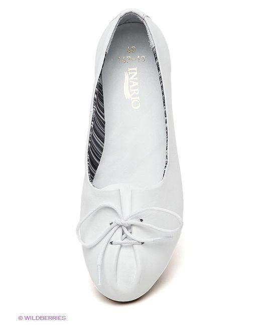 Туфли Inario                                                                                                              белый цвет