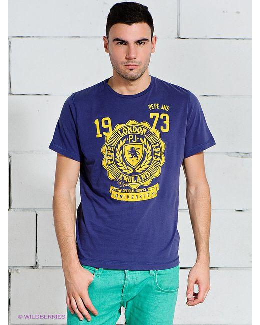Футболки Pepe Jeans London                                                                                                              Индиго цвет