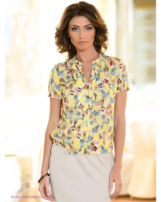 Блузки KEY FASHION                                                                                                              желтый цвет