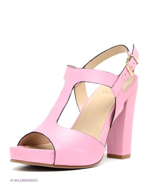 Босоножки Velvet                                                                                                              розовый цвет