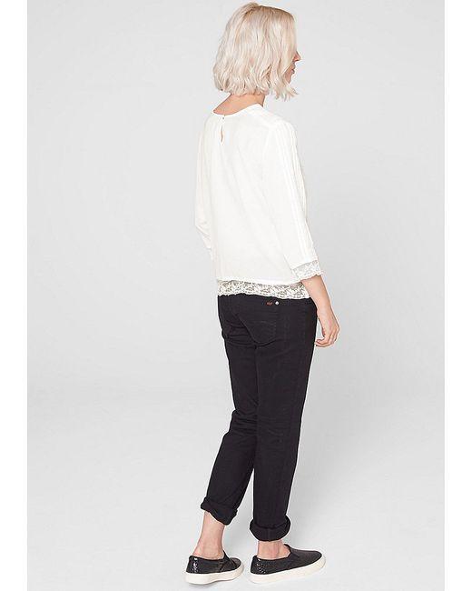 Блузки s.Oliver                                                                                                              Молочный цвет