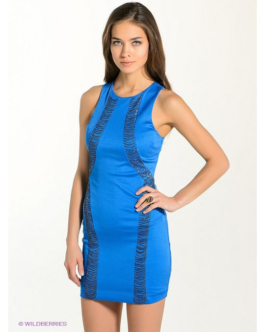 Платья Bebe                                                                                                              синий цвет