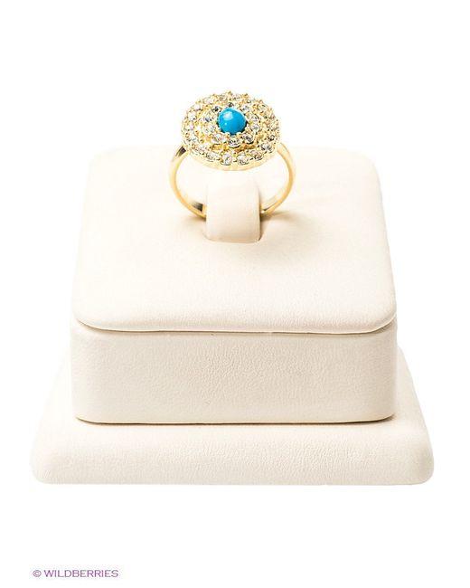 Кольца Jenavi                                                                                                              Золотистый, Бирюзовый цвет