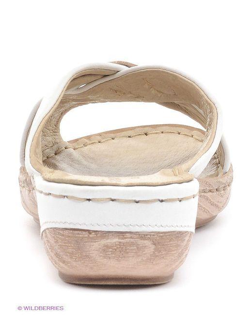 Шлепанцы Tamaris                                                                                                              белый цвет