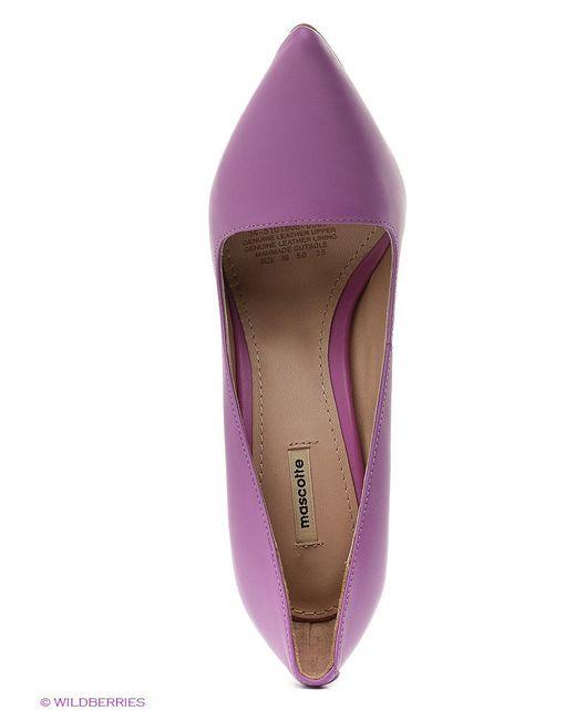 Туфли Mascotte                                                                                                              Лиловый цвет