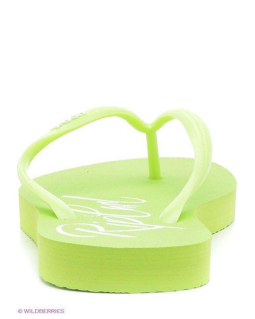 Шлепанцы Rip Curl                                                                                                              зелёный цвет