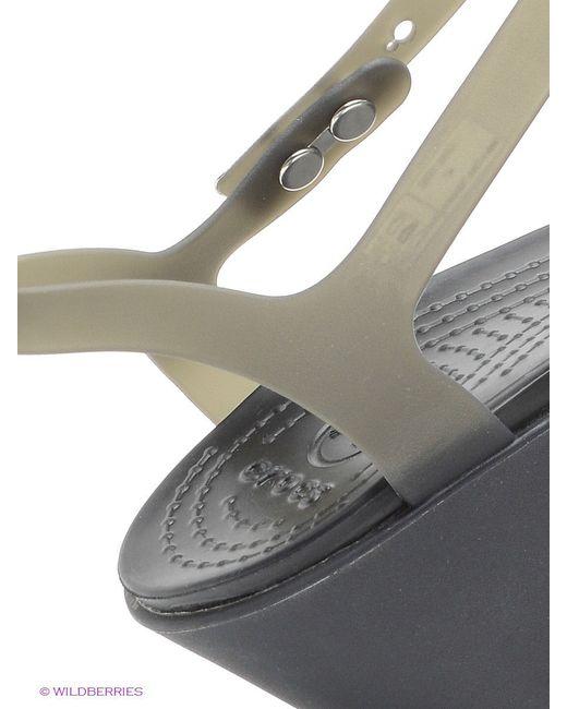 Босоножки Crocs                                                                                                              серый цвет