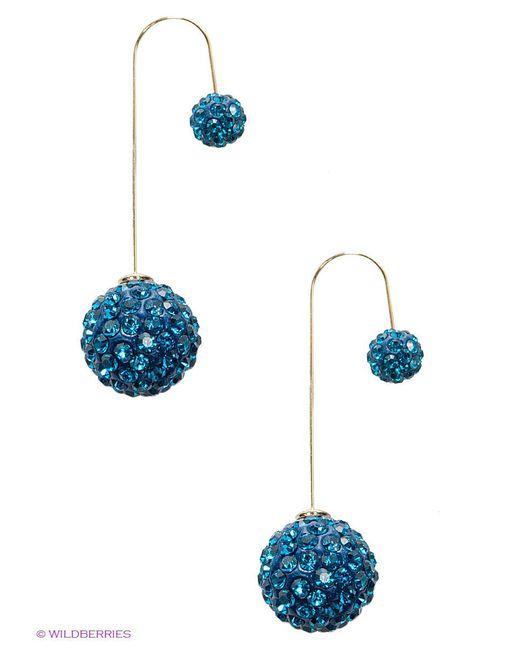 Серьги Happy Charms Family                                                                                                              синий цвет