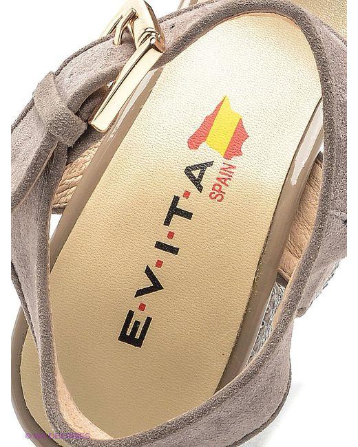 Босоножки Evita                                                                                                              коричневый цвет