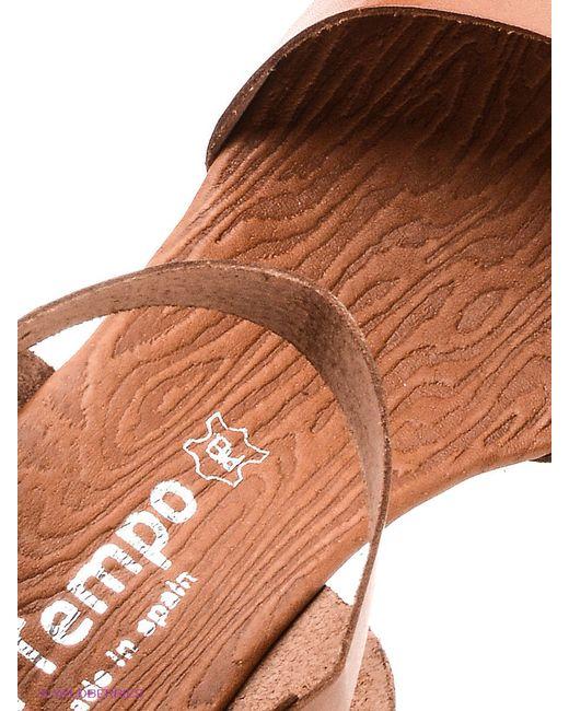 Босоножки El Tempo                                                                                                              коричневый цвет