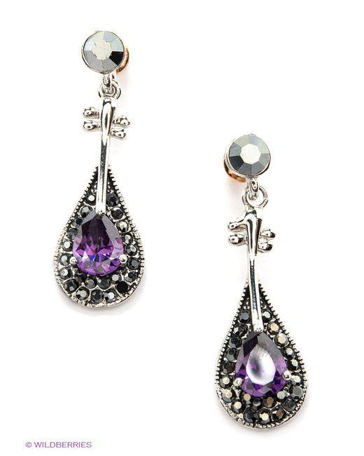 Серьги Lovely Jewelry                                                                                                              фиолетовый цвет