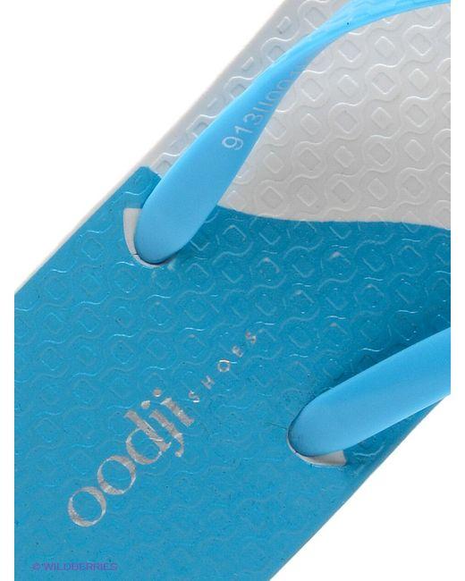 Шлепанцы Oodji                                                                                                              голубой цвет