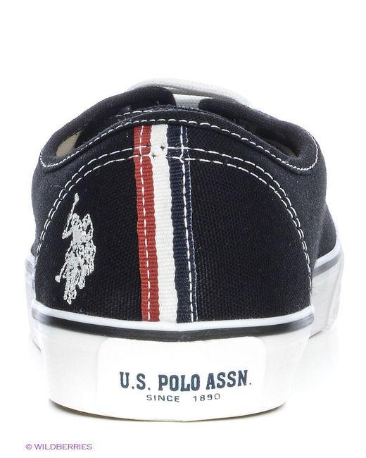 Кеды U.S. Polo Assn.                                                                                                              чёрный цвет