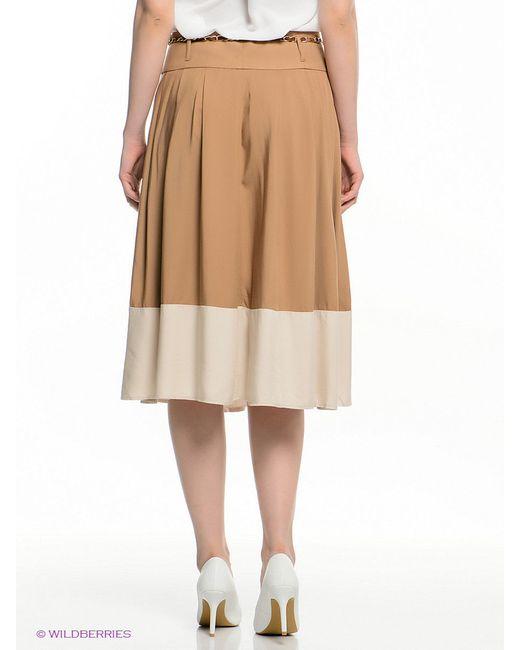 Юбки Oodji                                                                                                              коричневый цвет
