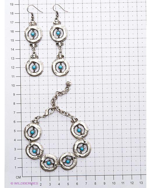 Комплекты Бижутерии Happy Garnets                                                                                                              голубой цвет