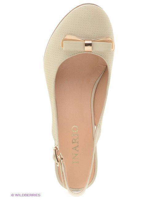 Туфли Inario                                                                                                              Молочный цвет