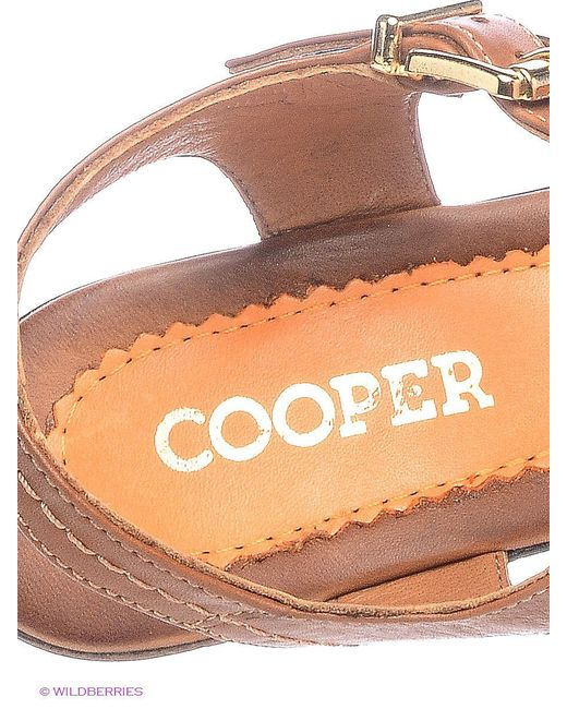 Босоножки Cooper                                                                                                              оранжевый цвет