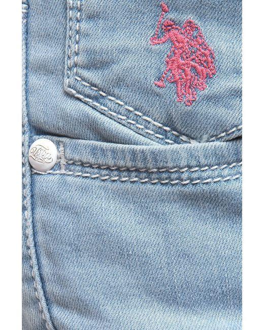 Шорты U.S. Polo Assn.                                                                                                              голубой цвет
