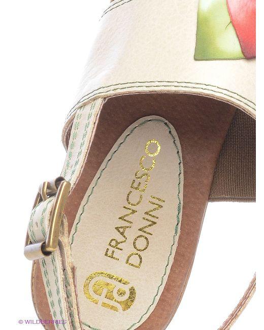 Босоножки Francesco Donni                                                                                                              бежевый цвет