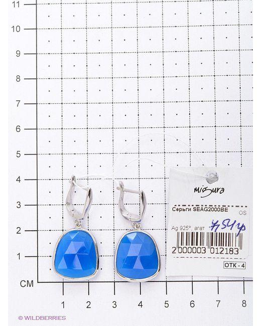 Ювелирные Серьги Migura                                                                                                              голубой цвет