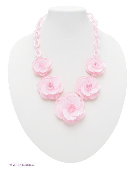 Колье Bijoux Land                                                                                                              розовый цвет