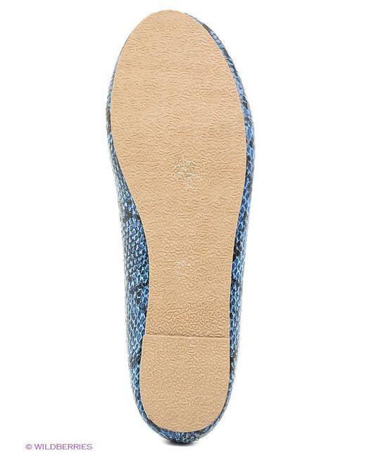 Балетки Oodji                                                                                                              синий цвет